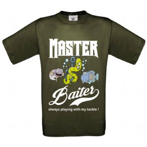 Premium Funny Master Baiter, Always playing with my tackle fishing Design Khaki t-shirt Gift